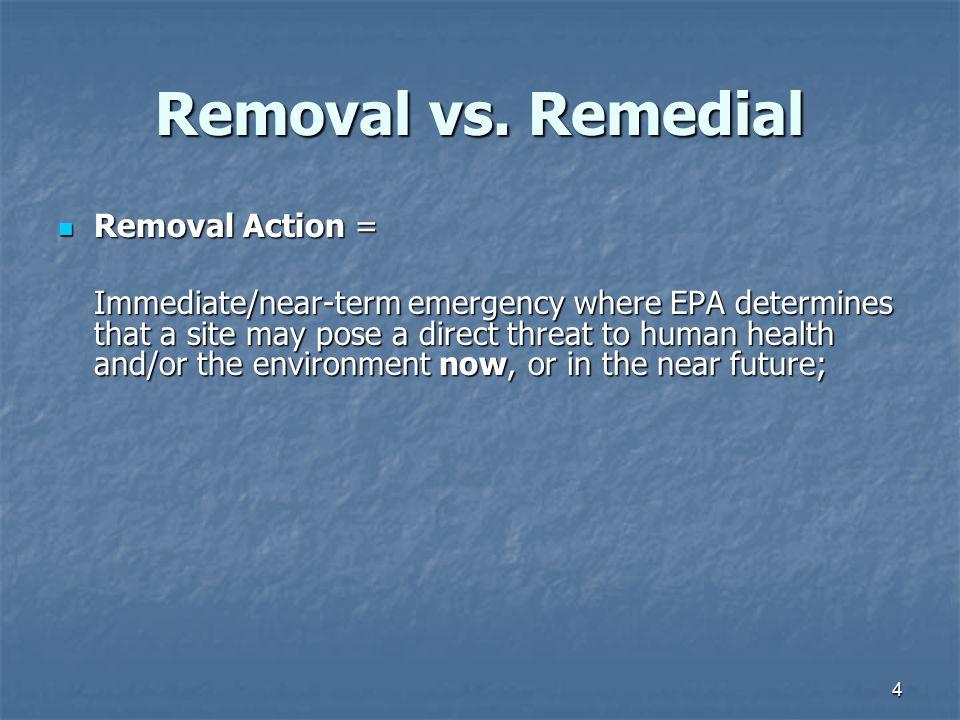 4 Removal vs.