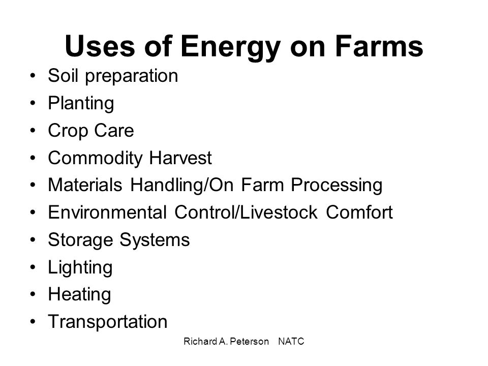 Richard A.Peterson NATC Thinking About a Renewable Energy System.