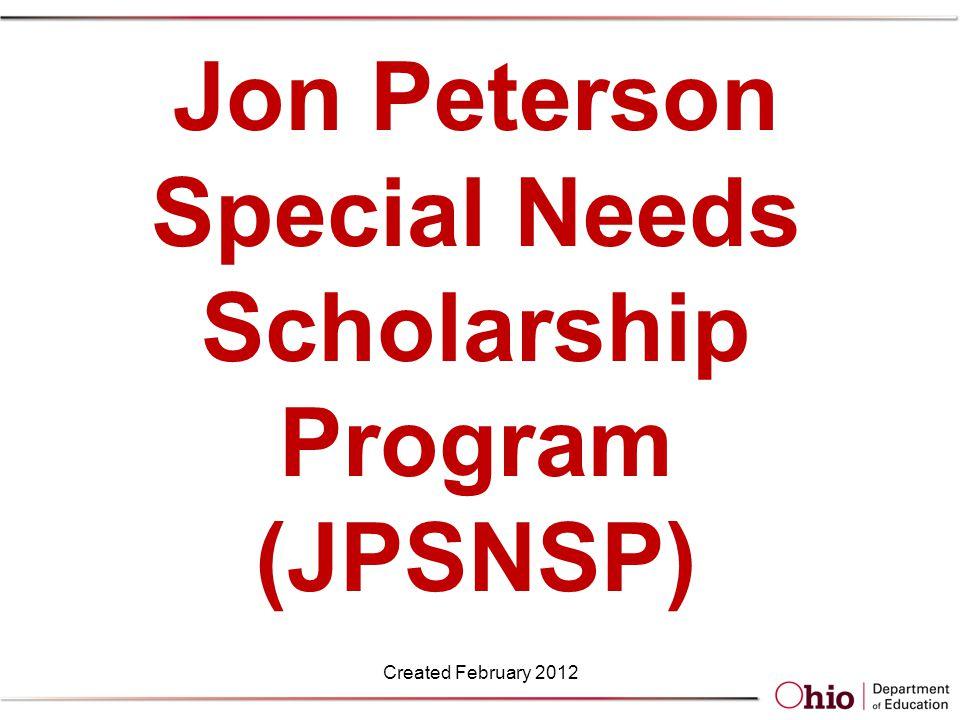 Scholarship Amount Created February 2012