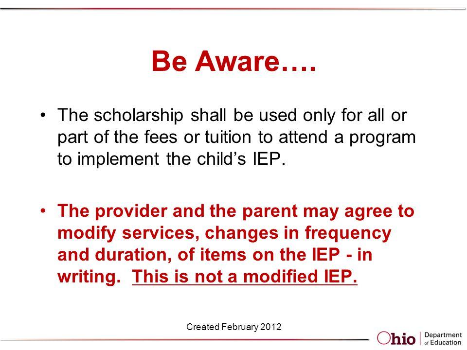 Be Aware….
