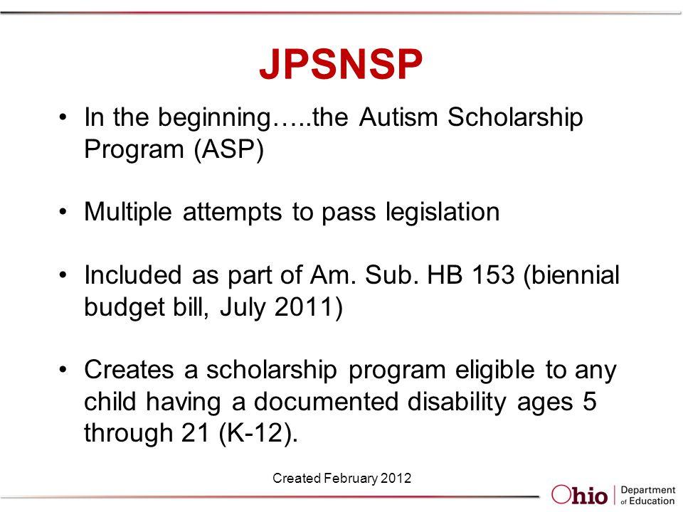 Program Administration No GRF funds provided for administration of this program or the ASP.