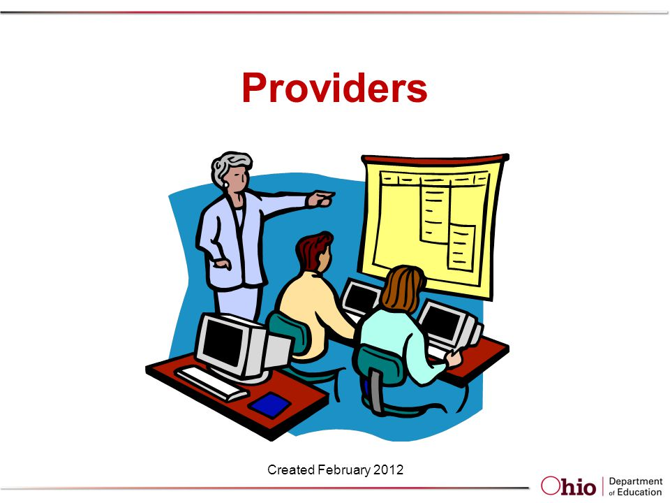 Providers Created February 2012