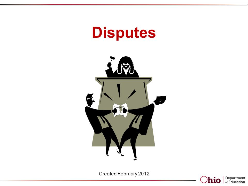 Disputes Created February 2012
