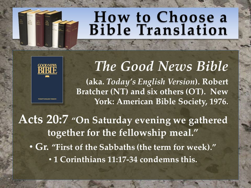 How to Choose a Bible Translation The Good News Bible (aka.