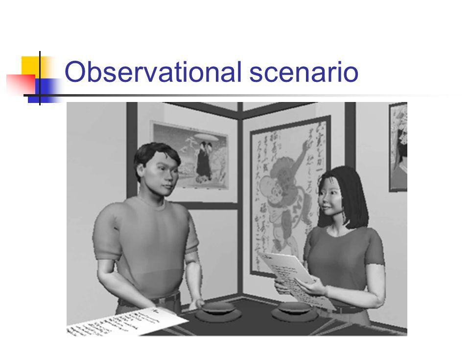 Observational scenario