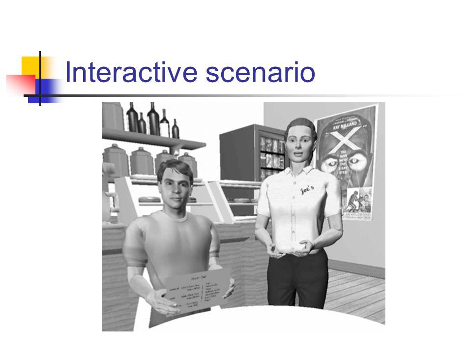 Interactive scenario