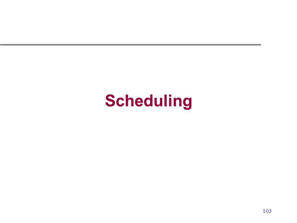 103 Scheduling