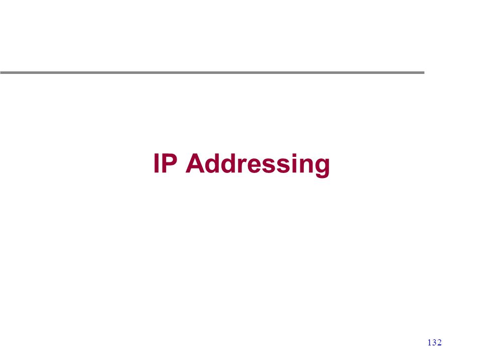 132 IP Addressing