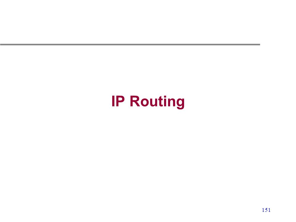 151 IP Routing