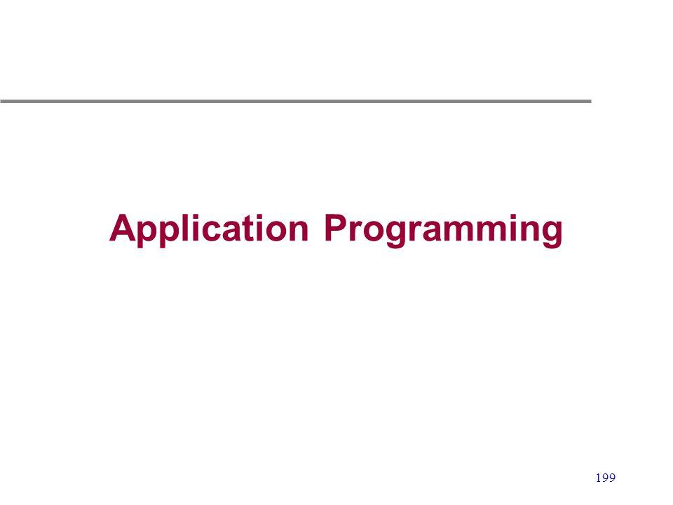 199 Application Programming