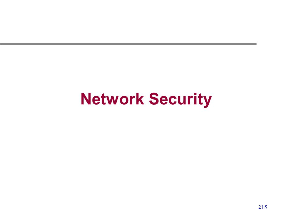 215 Network Security