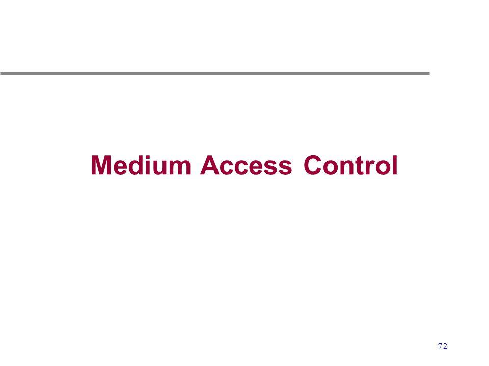 72 Medium Access Control