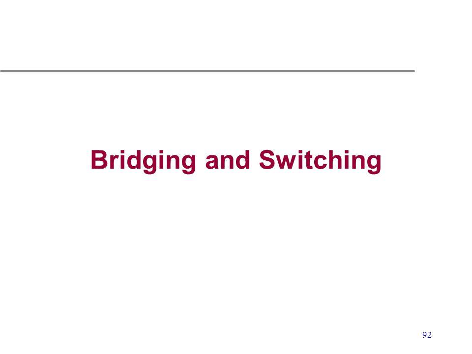 92 Bridging and Switching