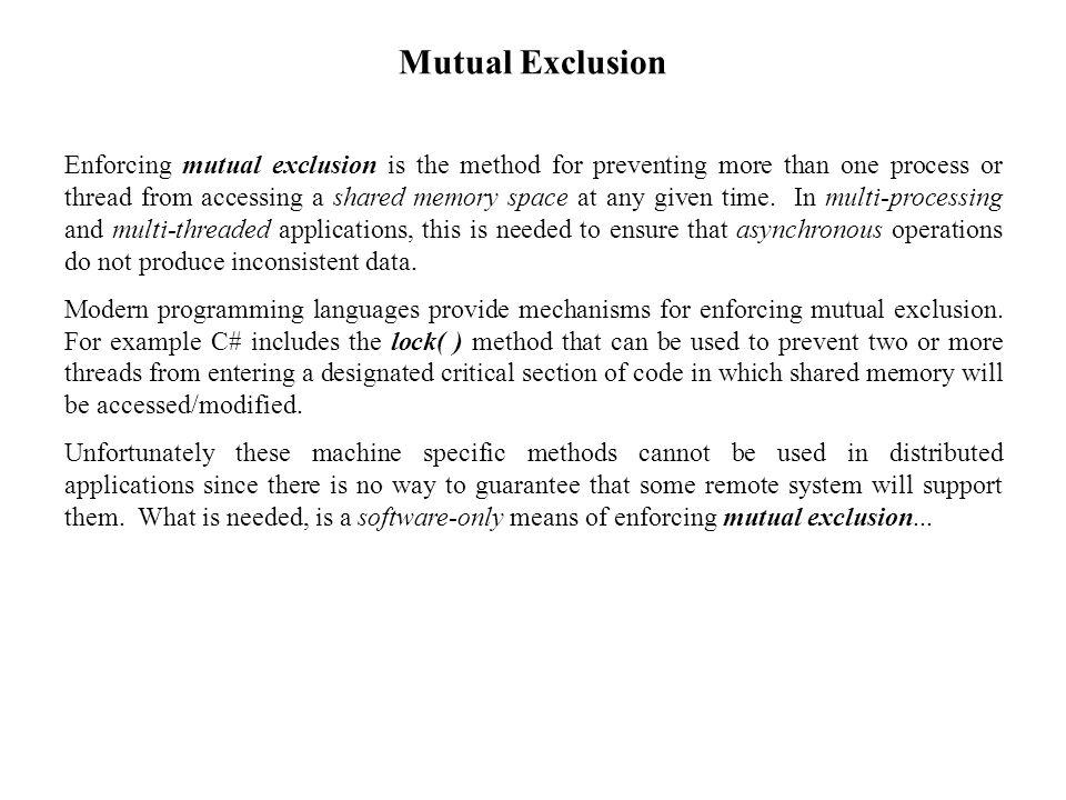 Mutual Exclusion: Version 1