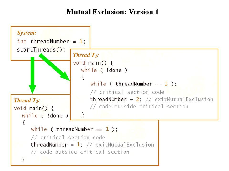 Mutual Exclusion: Version 2