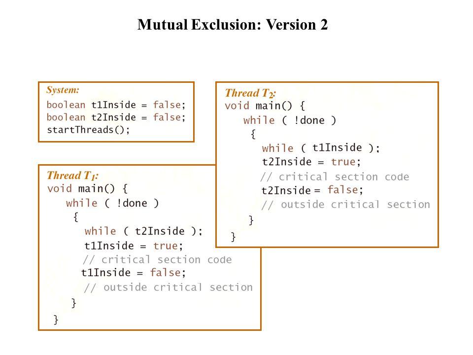 Mutual Exclusion: Version 3