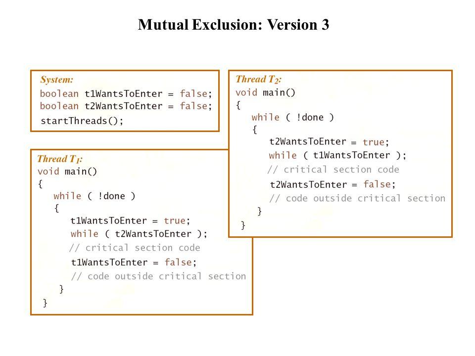 Mutual Exclusion: Version 4