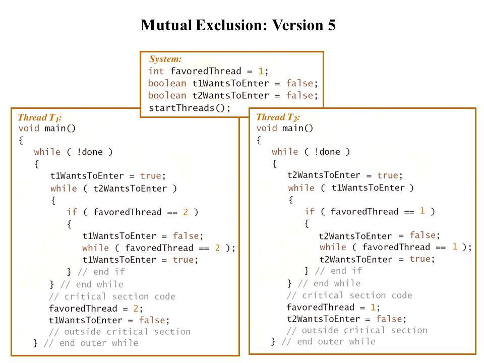 Mutual Exclusion: Version 6