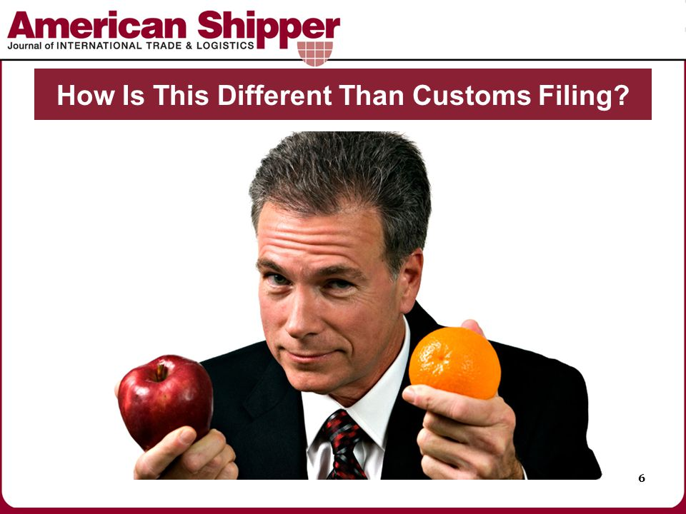 How Is This Different Than Customs Filing? 6