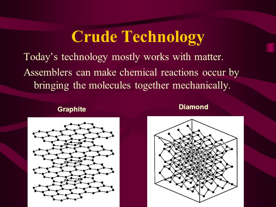 Crude Technology Today's technology mostly works with matter.