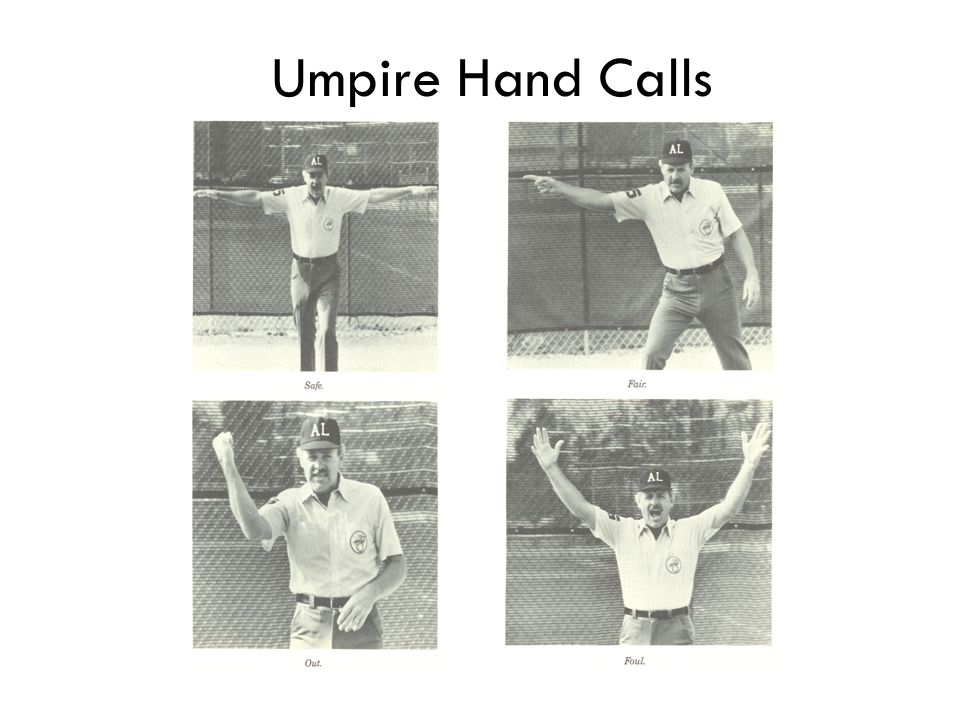 Umpire Hand Calls