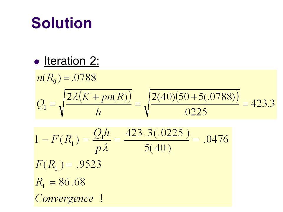 Solution Iteration 2: