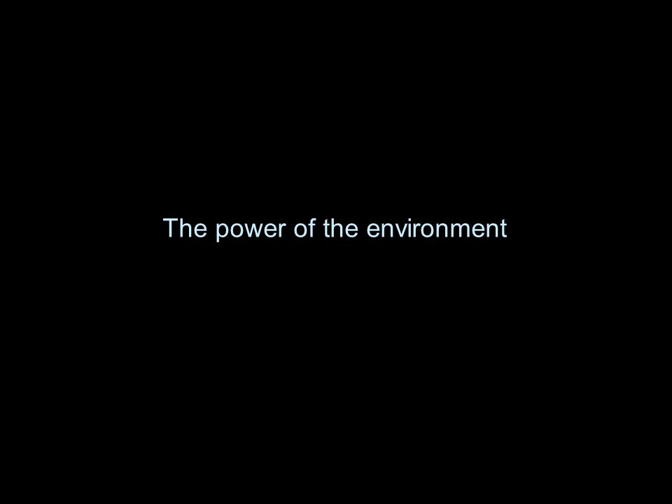 The power of the environment