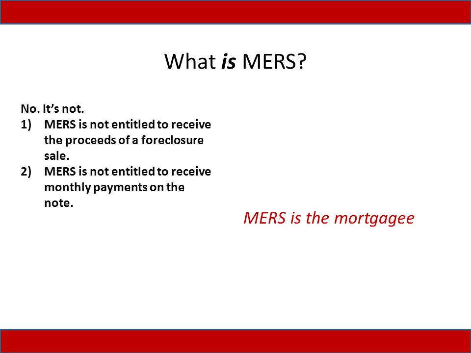 What is MERS.