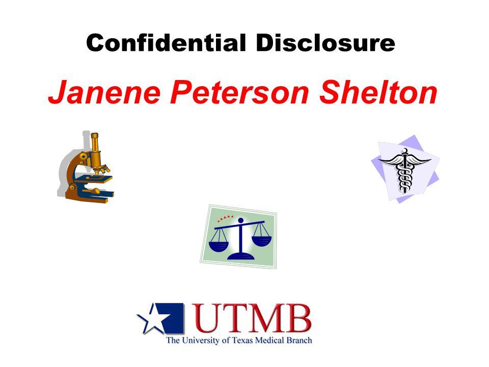 Confidential Disclosure Janene Peterson Shelton