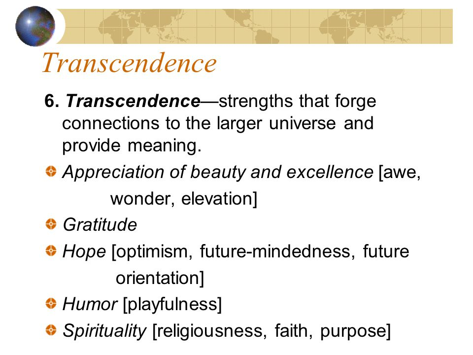 Transcendence 6.