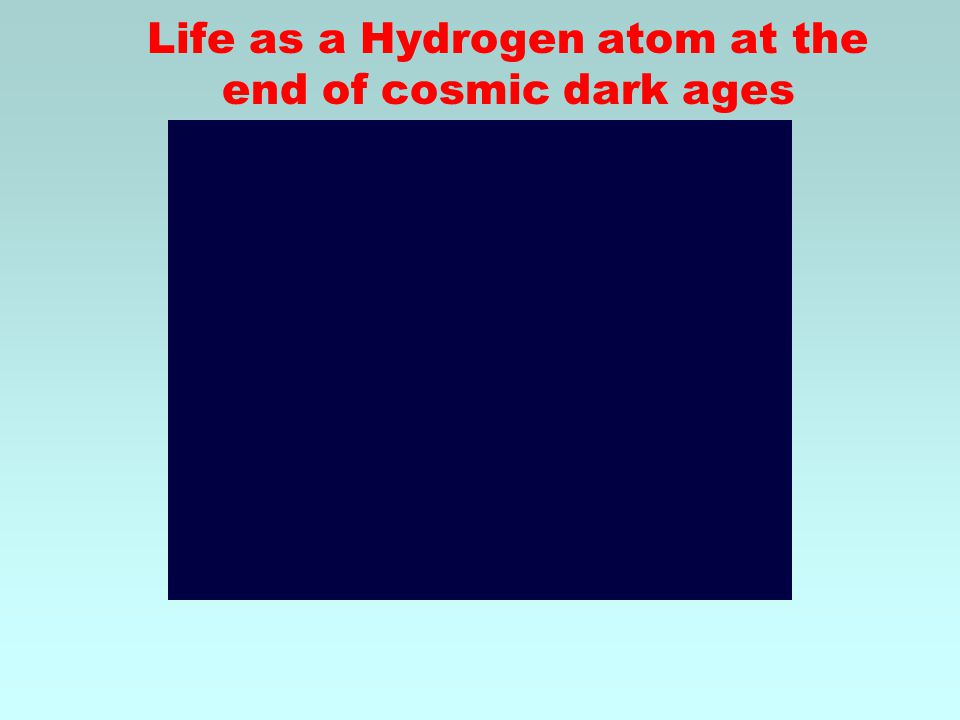 Life as a Hydrogen atom at the end of cosmic dark ages
