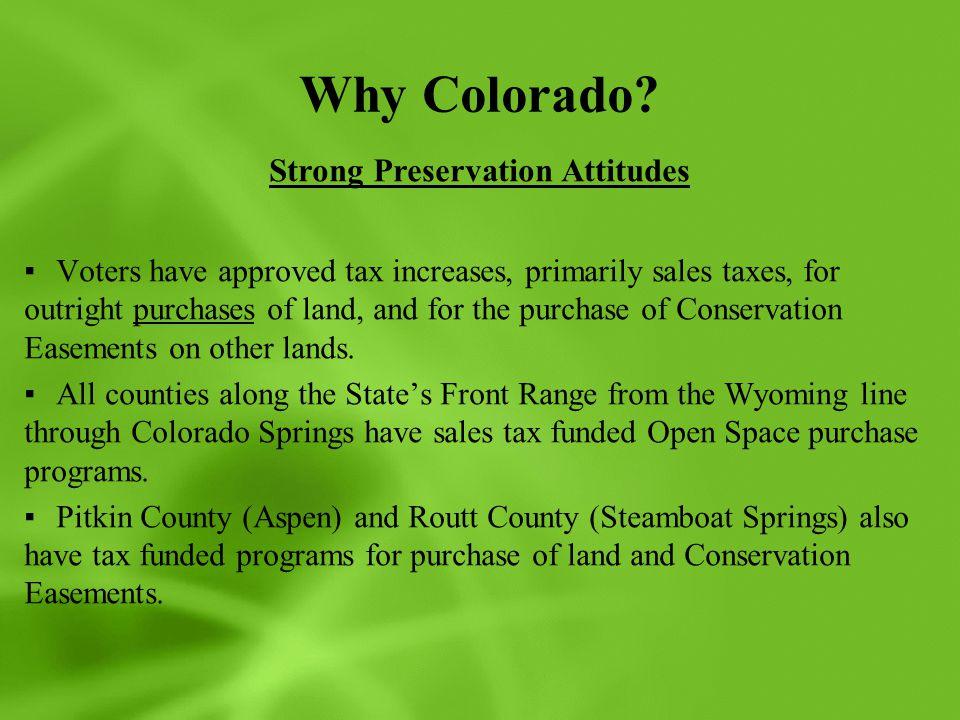 Why Colorado.