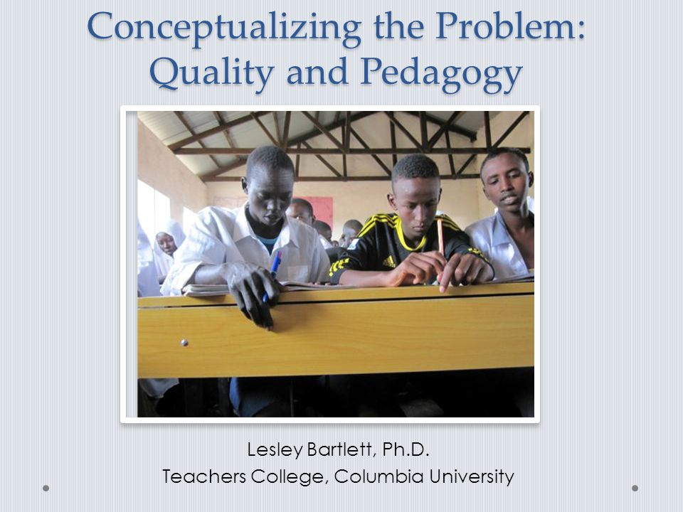 Quality and Pedagogy Notable shift: access to quality education Lack of attention to teaching and learning experiences of refugees Focus on teacher instruction