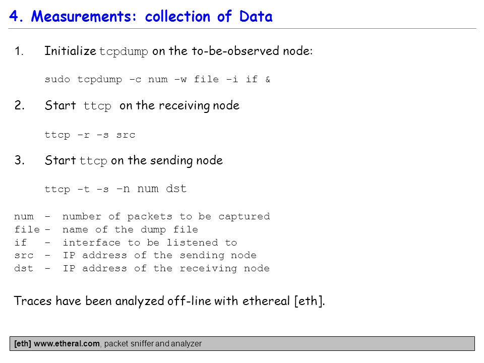 4. Measurements: collection of Data 1.