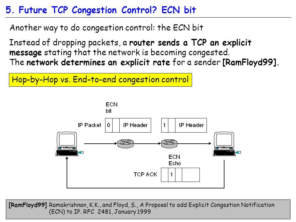 5. Future TCP Congestion Control.