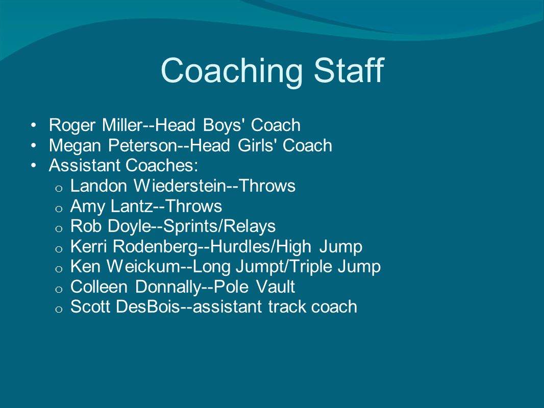 Titan Track and Field Philosophy Athletes Compete with Positive Attitude and Effort Coaches- Coach/Teach all aspects of their event with a Team First belief Parents- support and cheer Communication with Coaches, Athletes and Parents is a top priority.