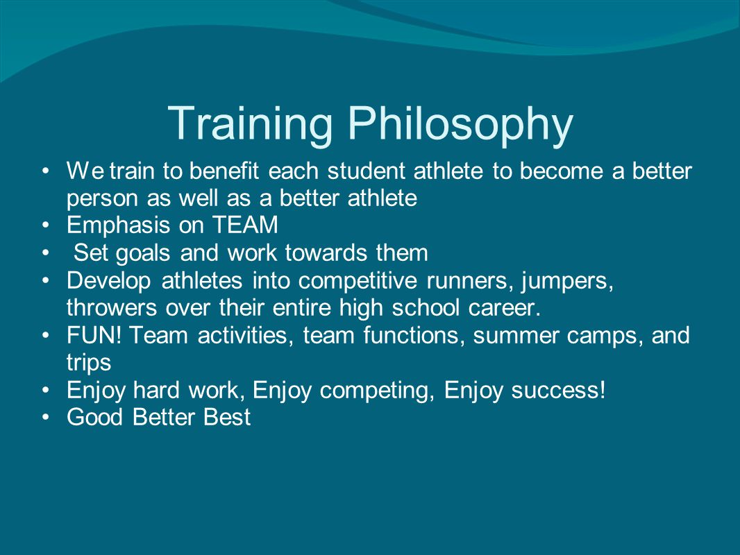 Program Goals Enjoy Track and Field Set and monitor individual goals over their 4 years at Legend Prepare the student athlete for the college environment and help to promote athletics in college and beyond Create a winning attitude towards league, state and national competition.