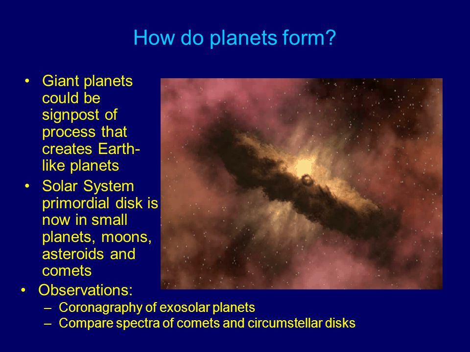 How do planets form.