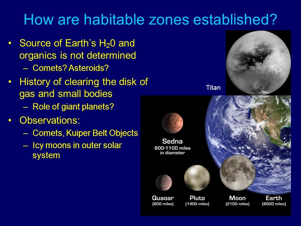 How are habitable zones established.