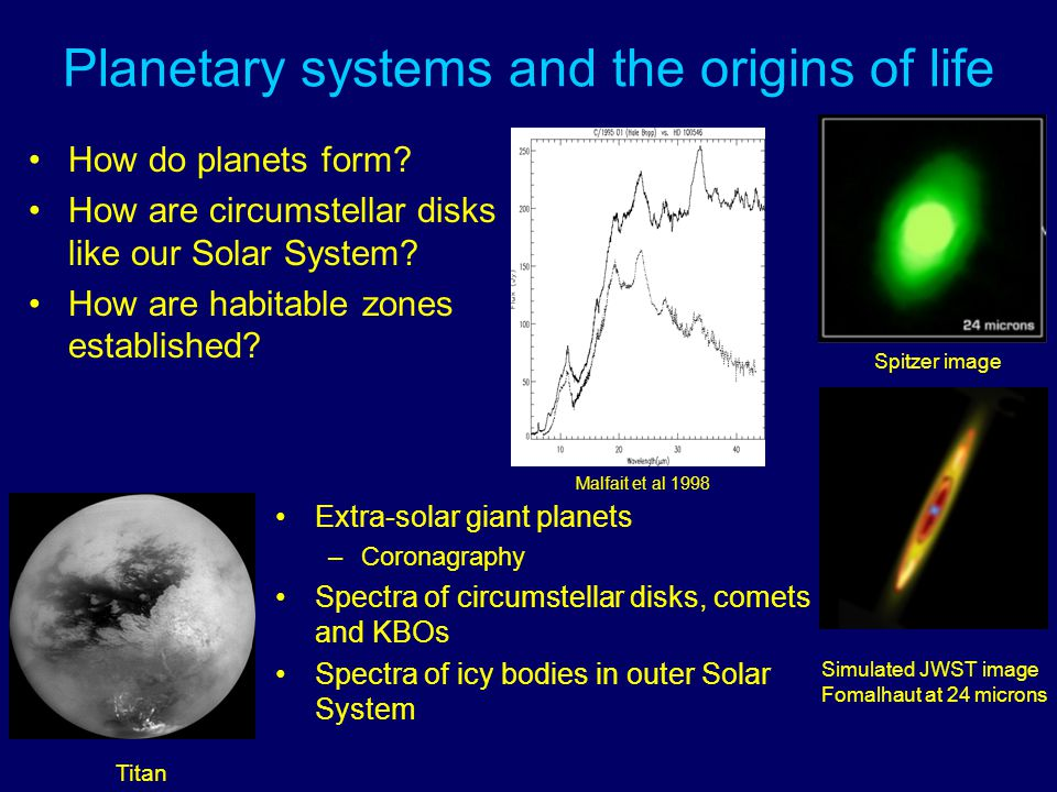 Planetary systems and the origins of life How do planets form.