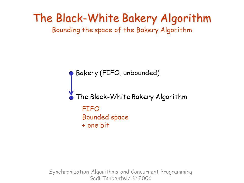 The Black-White Bakery Algorithm Bounding the space of the Bakery Algorithm Bakery (FIFO, unbounded) The Black-White Bakery Algorithm FIFO Bounded spa