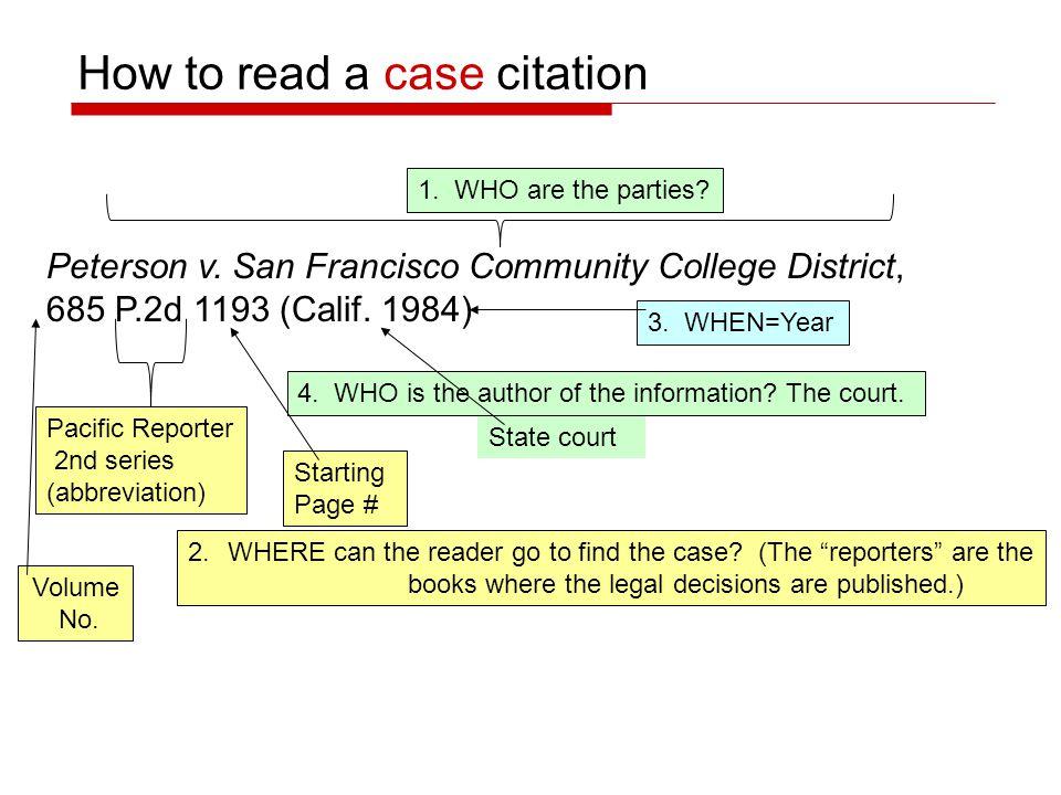 Peterson v. San Francisco Community College District, 685 P.2d 1193 (Calif.