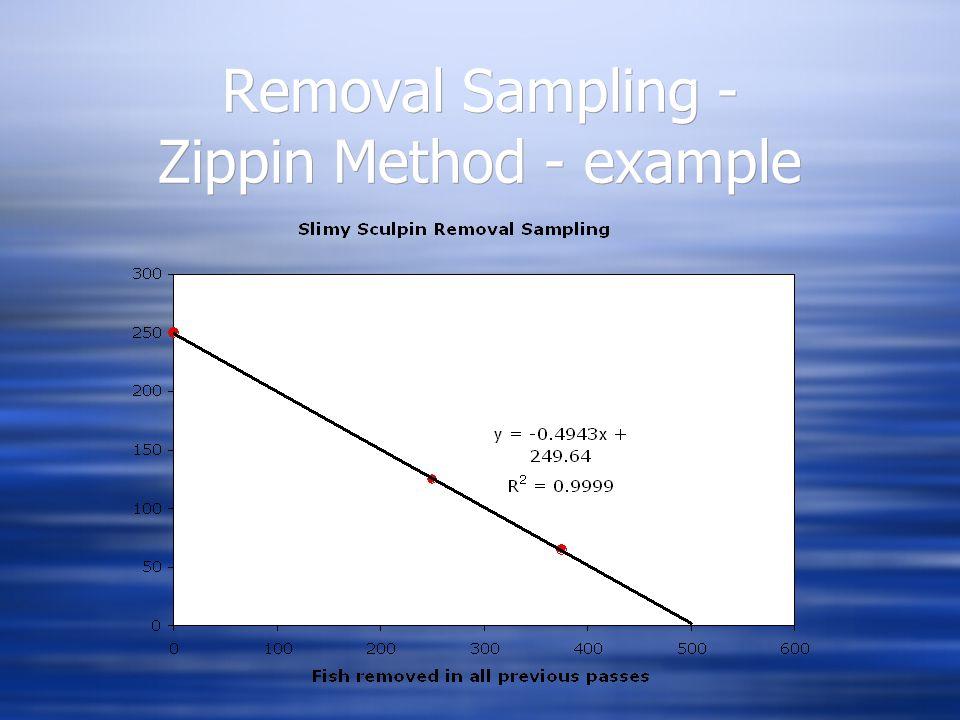 Removal Sampling - Zippin Method - example