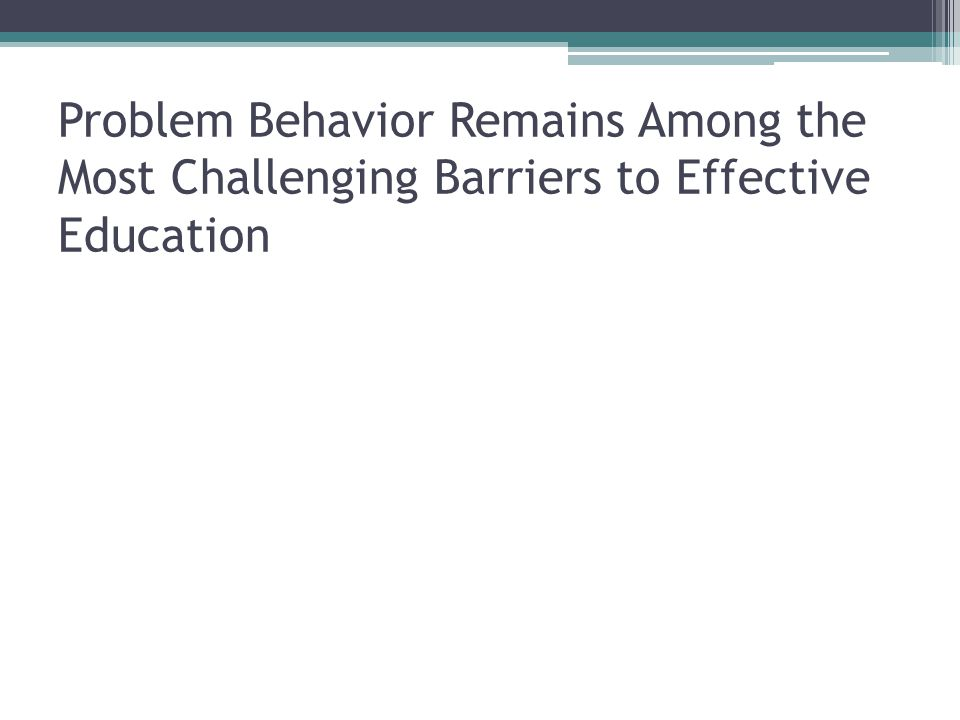 The Challenge Lack of discipline is viewed as one of the most serious challenges facing public schools  National Education Goals Report (1995) Teachers report that uncivil behavior is increasing and is a threat to effective learning  Skiba and Peterson, (2000) There is a link between general level of disruptive behavior and more extreme acts of violence  Skiba and Peterson, (2000)