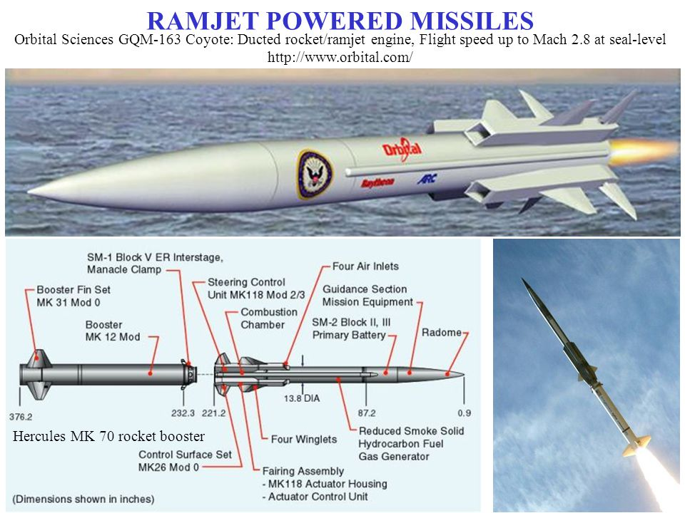 RUSSIA S P-700 GRANIT LONG-RANGE ANTI-SHIP MISSILE (SS-N-19 'SHIPWRECK') Launched by two solid-fuel boosters before sustained flight with ramjet Maximum speed believed ~ Mach 2.25 Range is estimated at 550 to 625 km Weight: 7,000 kg, Length: 10 m, Diameter: 0.85 m Altitude up to 65,000 ft