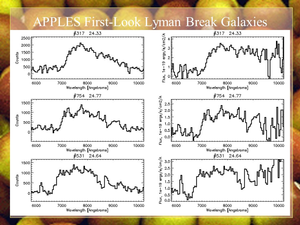 APPLES First-Look Lyman Break Galaxies