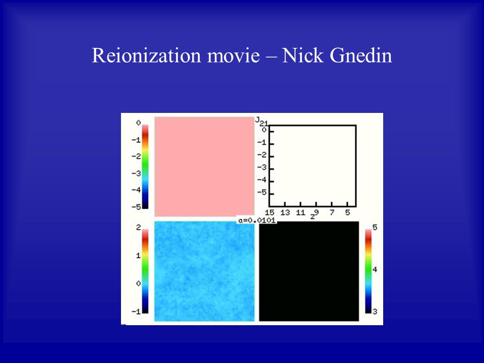 Reionization movie – Nick Gnedin