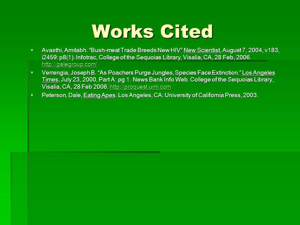 Works Cited  Avasthi, Amitabh.