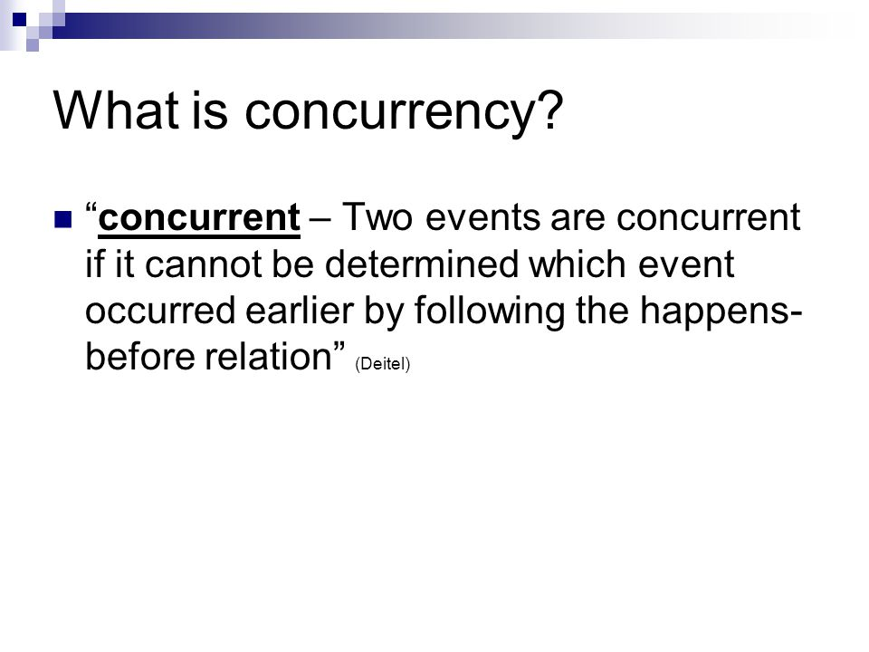 What is concurrency.