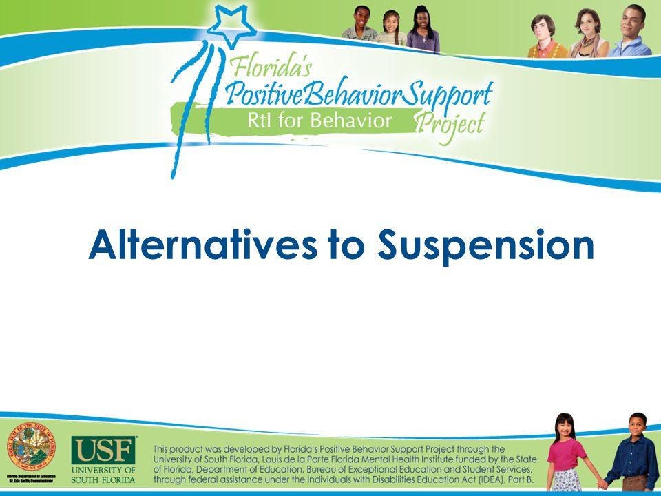 Alternatives to Suspension